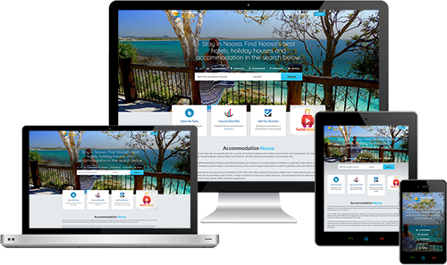 Accommodation Noosa displayed beautifully on multiple devices