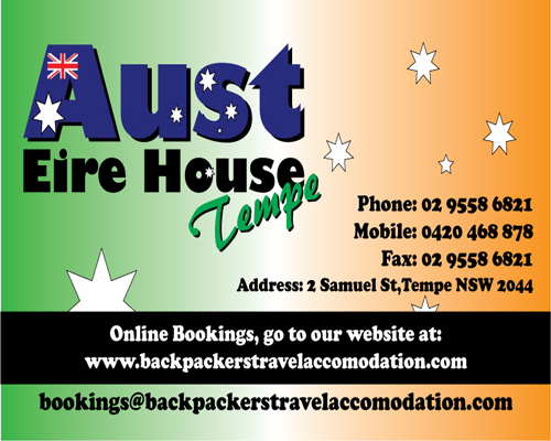 Aust Eire House Tempe - Accommodation Noosa