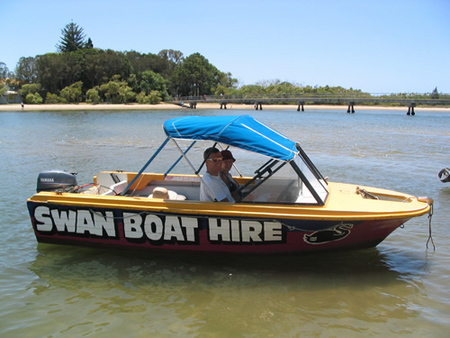 Swan Boat Hire - Accommodation Noosa