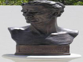 Adam Lindsay Gordon Bronze Bust - Accommodation Noosa