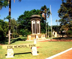 Esk War Memorial and Esk Memorial Park - Accommodation Noosa